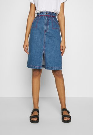 WESTERN SKIRT - Pencil skirt - blue/red