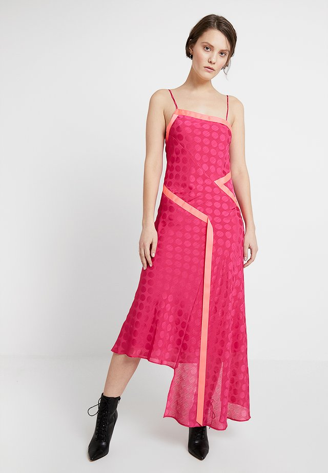 VIVID ONE SHOULDER SLIP DRESS - Maxikleid - fuchsia