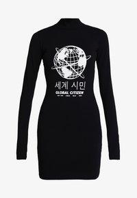 House of Holland - GLOBAL CITIZEN BODY CON MINI DRESS - Pouzdrové šaty - black - 5