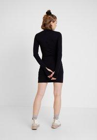 House of Holland - GLOBAL CITIZEN BODY CON MINI DRESS - Pouzdrové šaty - black - 3