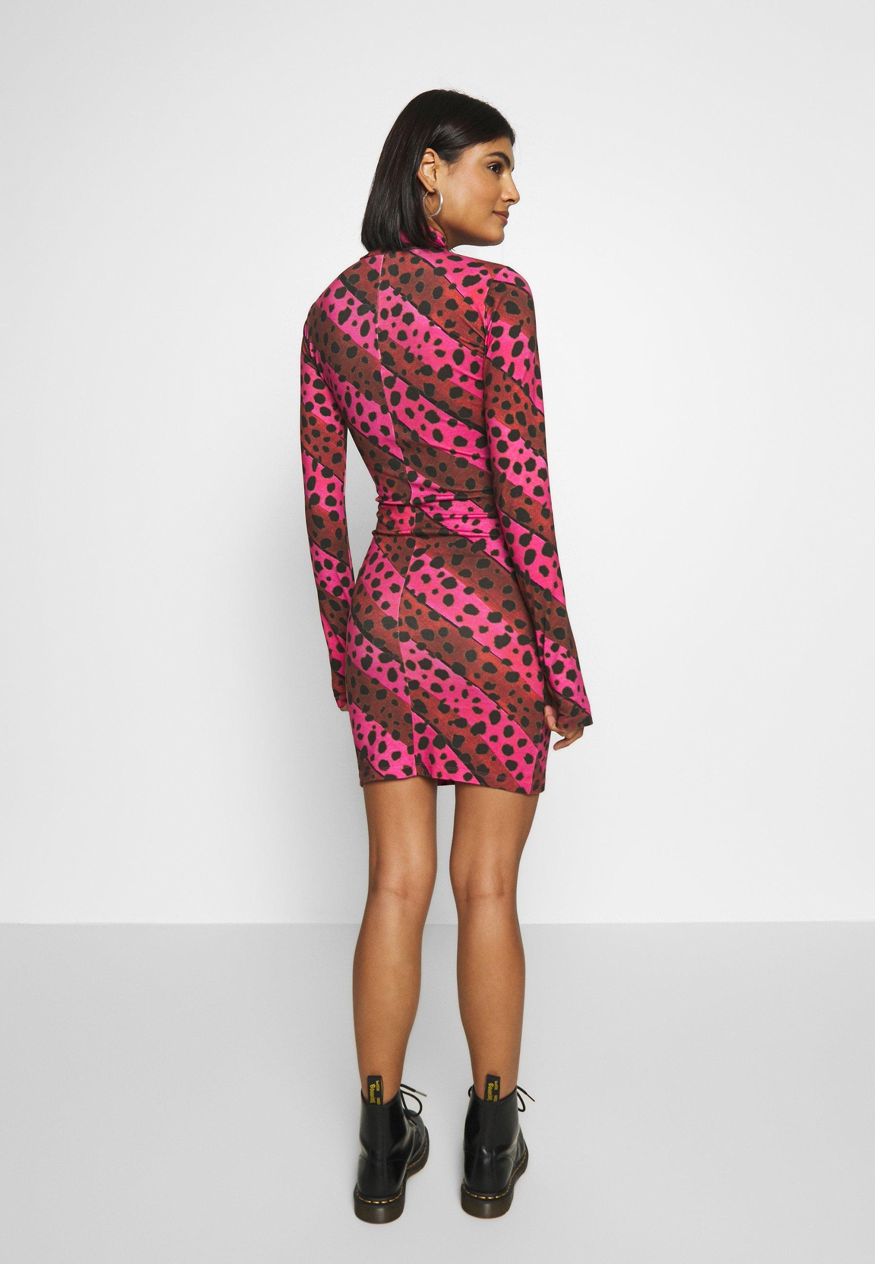 House of Holland LEO MINI DRESS - Kjole - pink/multi-coloured