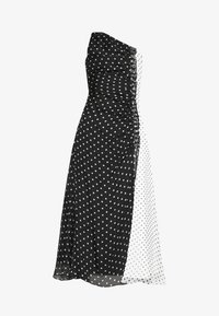 House of Holland - ONE SHOULDER POLKA GATHERED DRESS - Cocktail dress / Party dress - black/white - 3
