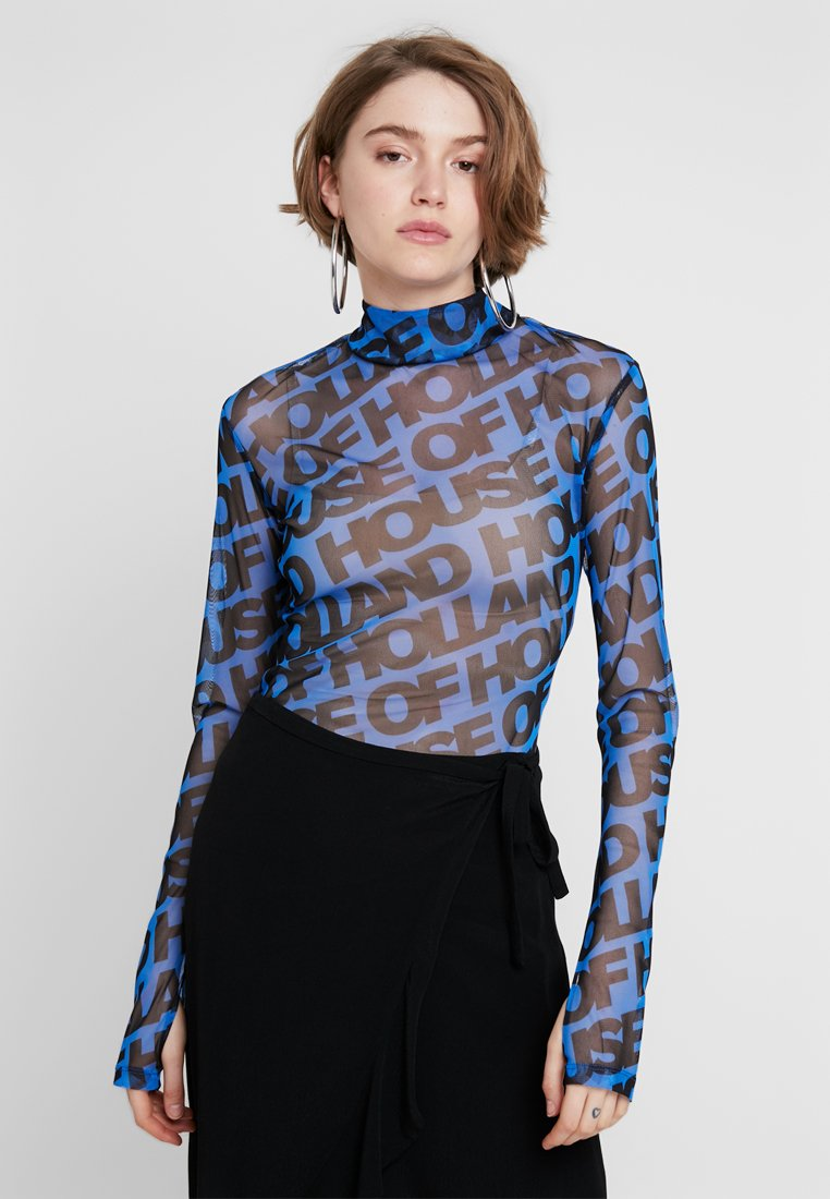 House of Holland - Long sleeved top - blue/black