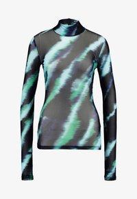 House of Holland - TIE DYE LONG SLEEVE - Long sleeved top - mint multi - 4