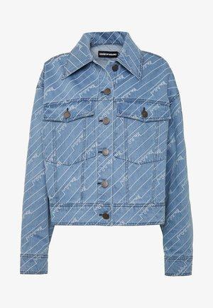 MONOGRAM JACKET - Denim jacket - light blue