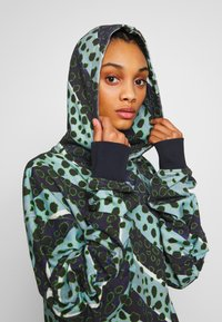 House of Holland - LONGLINE MUTED STRIPE CHEETAH HOODIE  - Mikina s kapucí - navy/multi-coloured - 3