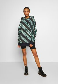 House of Holland - LONGLINE MUTED STRIPE CHEETAH HOODIE  - Mikina s kapucí - navy/multi-coloured - 1