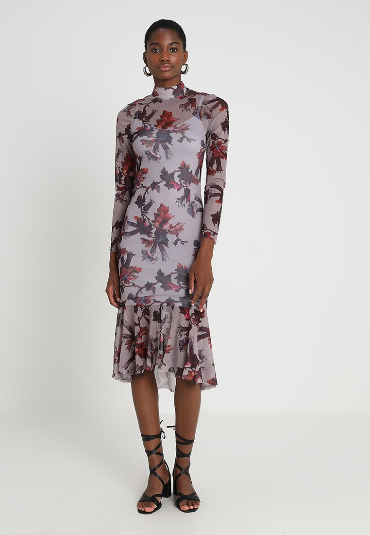 Hope & Ivy - WITH PEPLUM - Robe de soirée - mauve