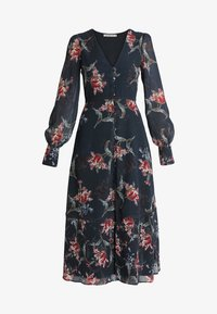 Hope & Ivy - PLUNGE BUTTON DOWN LONG SLEEVE  - Maxi šaty - navy - 4
