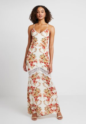 LACE UP BACK MAXI WITH TRIM - Maxikjoler - cream