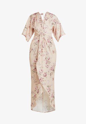 TIE KNOT FRONT MAXI WITH KIMONO SLEEVES - Cocktailjurk - blush