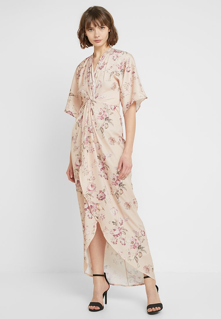 Hope & Ivy - TIE KNOT FRONT MAXI WITH KIMONO SLEEVES - Cocktailklänning - blush