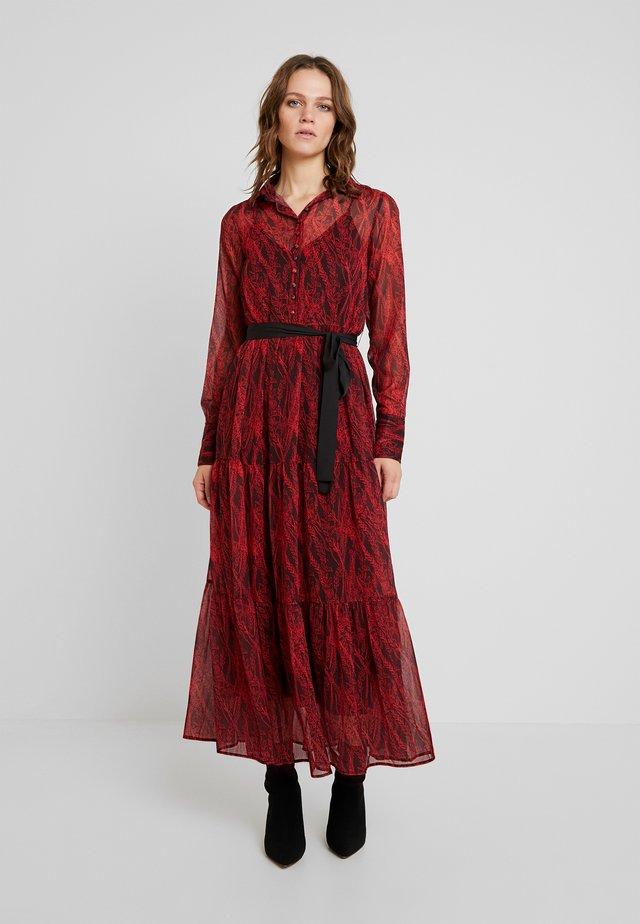 BUTTON THROUGH DRESS - Maxi-jurk - red