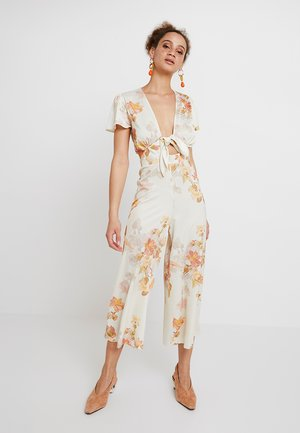 Jumpsuit - white/red