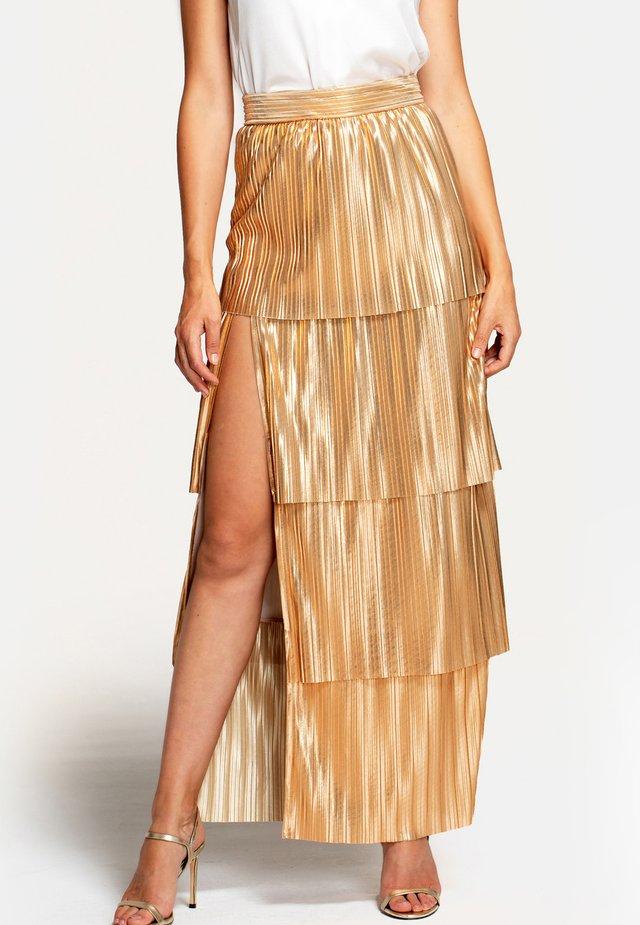 Długa spódnica - gold