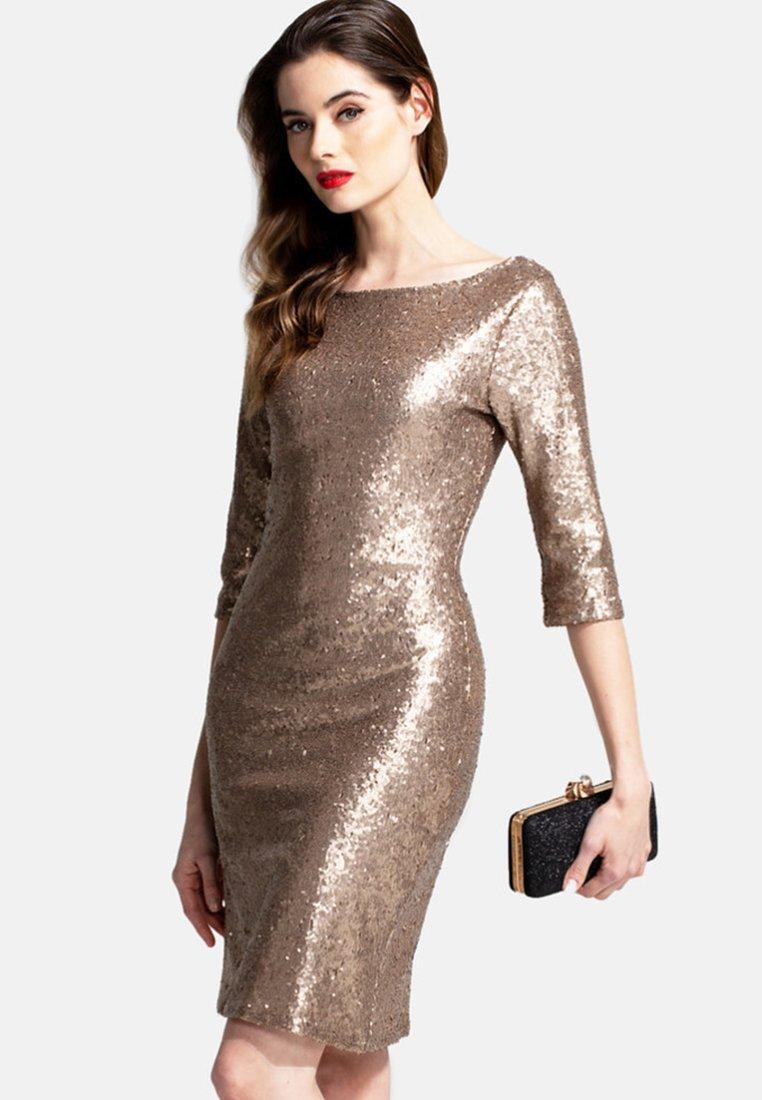 HotSquash - Sukienka koktajlowa - gold
