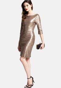 HotSquash - Sukienka koktajlowa - gold - 1