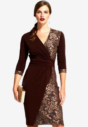 Shift dress - brown