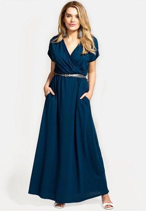 Długa sukienka - petrol