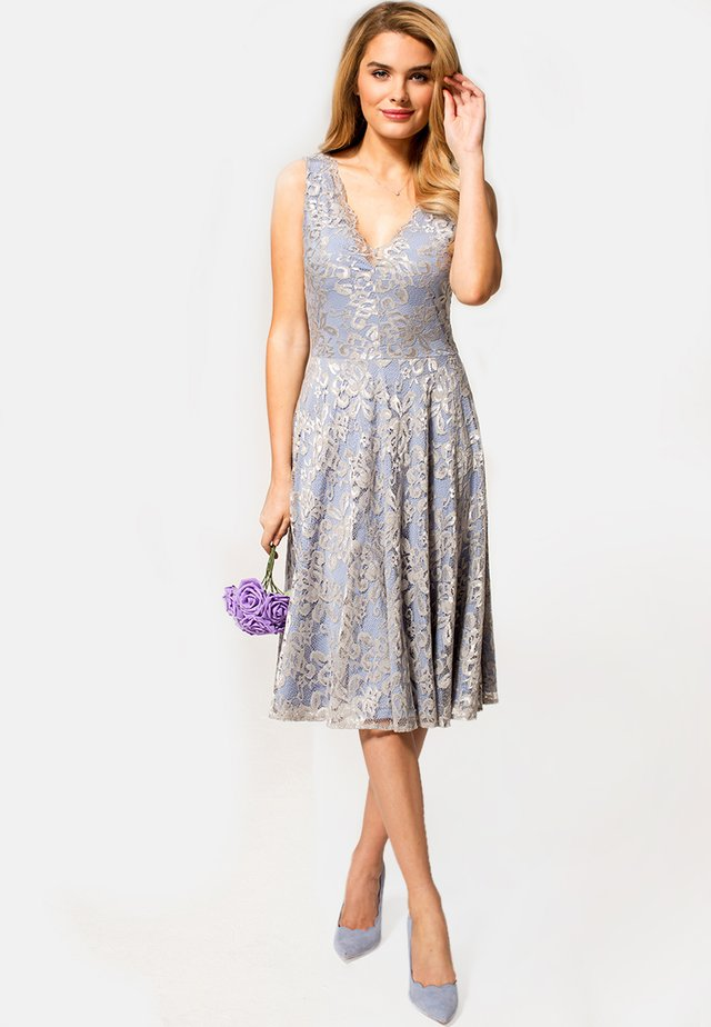 FLORAL  - Cocktail dress / Party dress - silver