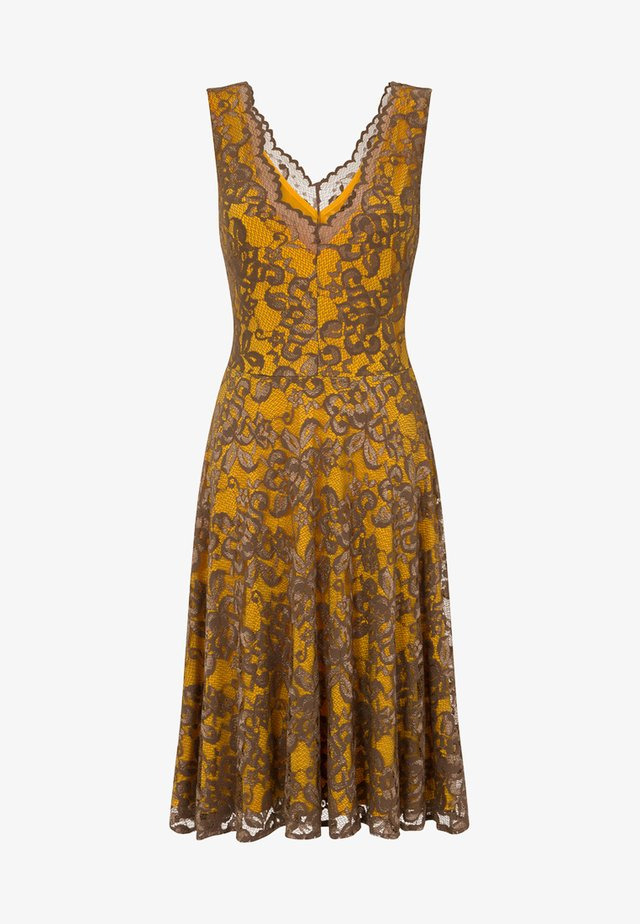 FLORAL  - Cocktailklänning - mustard brown