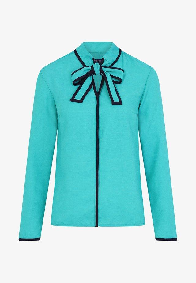 TIE NECK CREPE - Blouse - turquoise