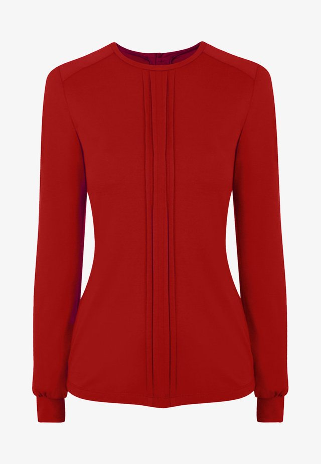 PLEAT FRONT - Camicetta - red