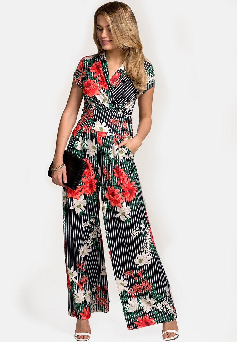 HotSquash - WITH CAP SLEEVE - Jumpsuit - black/ red