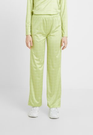 NORA LOGO PANTS - Pantalones - lime green