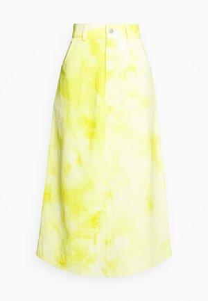 RINA TIE DYE SKIRT - Áčková sukně - yellow/white