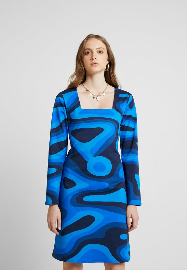 PALOMA DRESS - Shift dress - blue waves