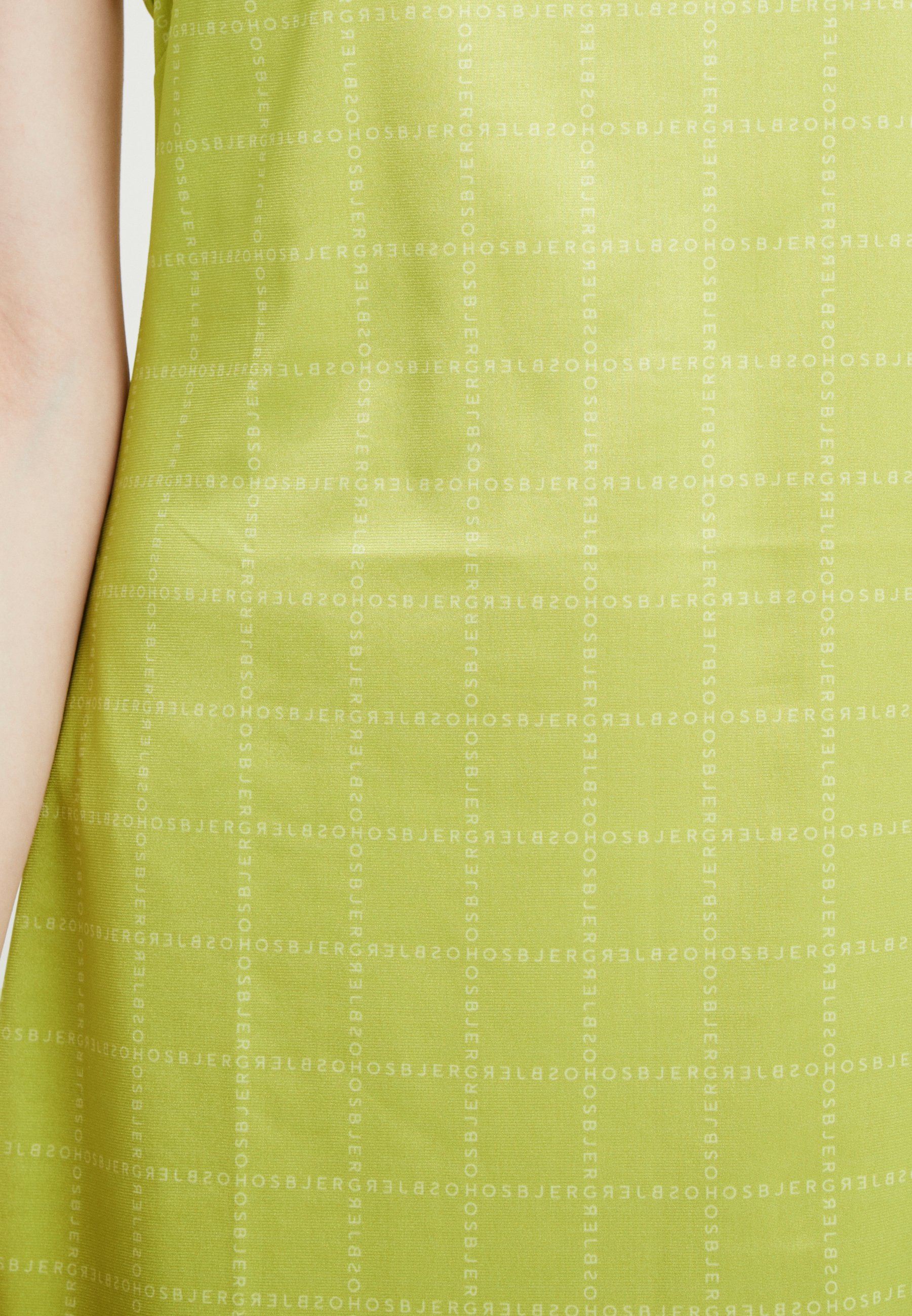 Hosbjerg Nora Logo Dress - Jerseyjurk Lime Green ZdIyejeI