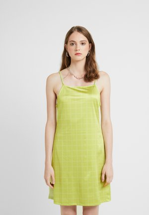 NORA LOGO DRESS - Jerseyjurk - lime green