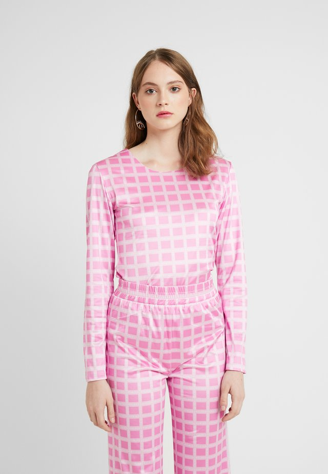 NORA LOGO - Long sleeved top - pink