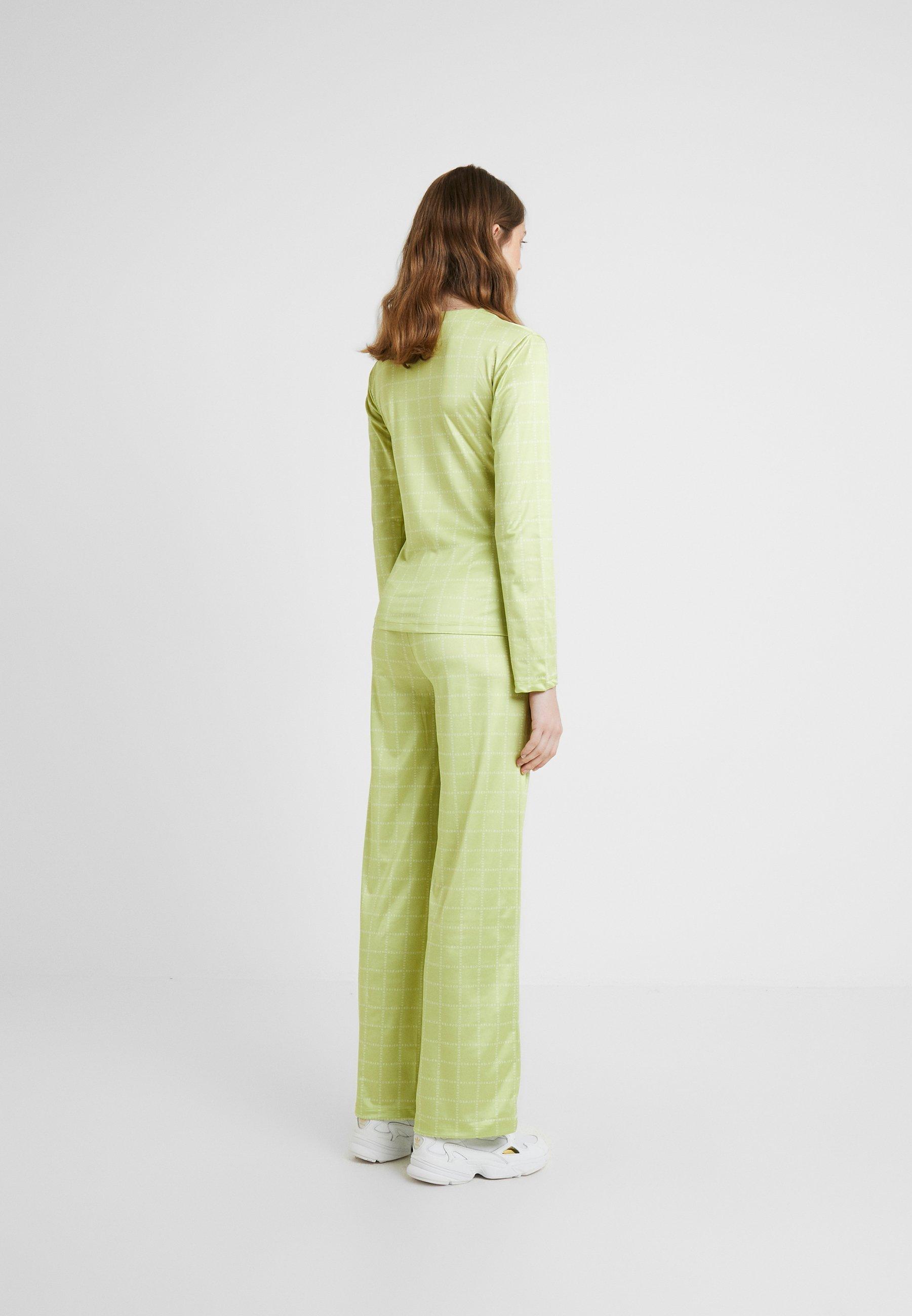 LogoT Longues shirt Green Nora Manches Hosbjerg À Lime vm80Nnw