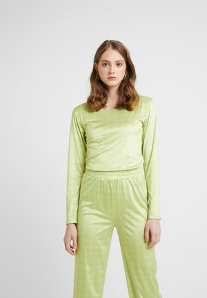 NORA LOGO - Long sleeved top - lime green