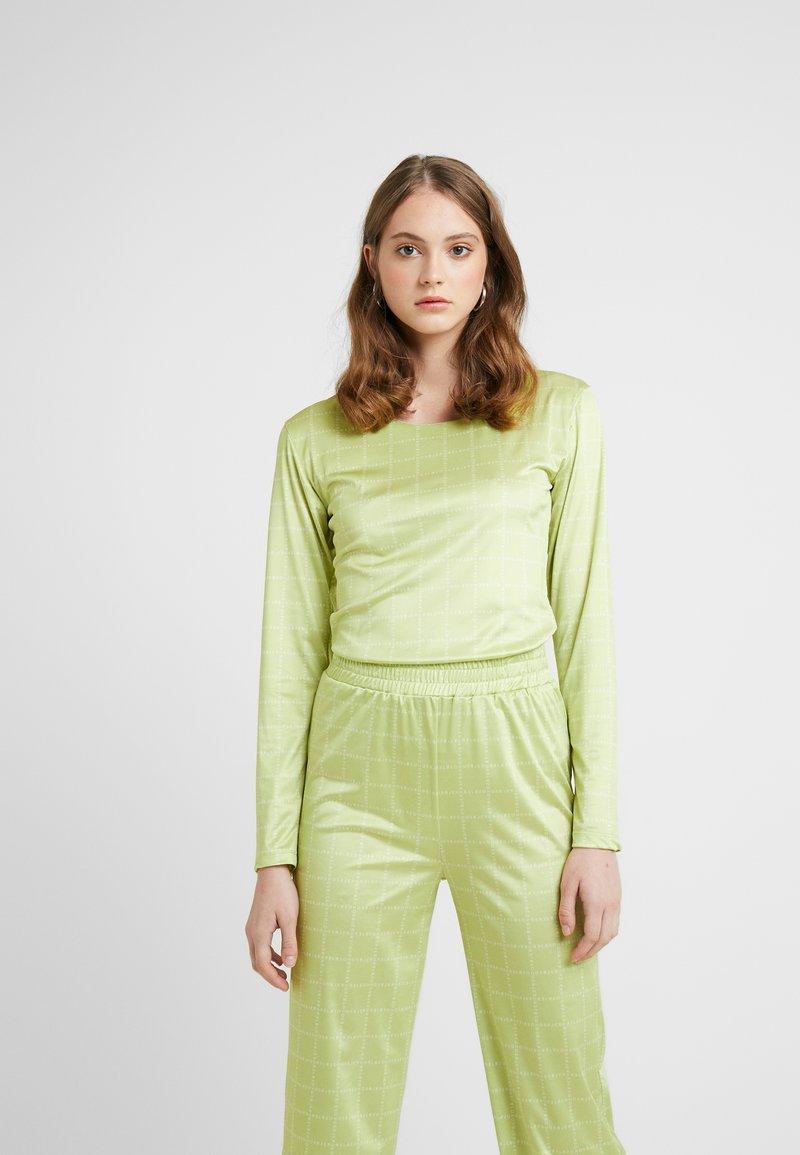 HOSBJERG - NORA LOGO - Long sleeved top - lime green