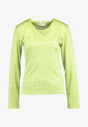 NORA LOGO - Camiseta de manga larga - lime green