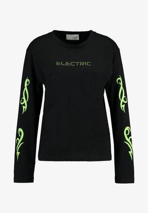 OLINE ELECTRIC SLEEVE - Bluzka z długim rękawem - black