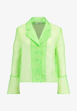 JASMINE - Button-down blouse - neon green