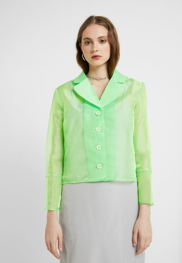 JASMINE - Button-down blouse - neon green