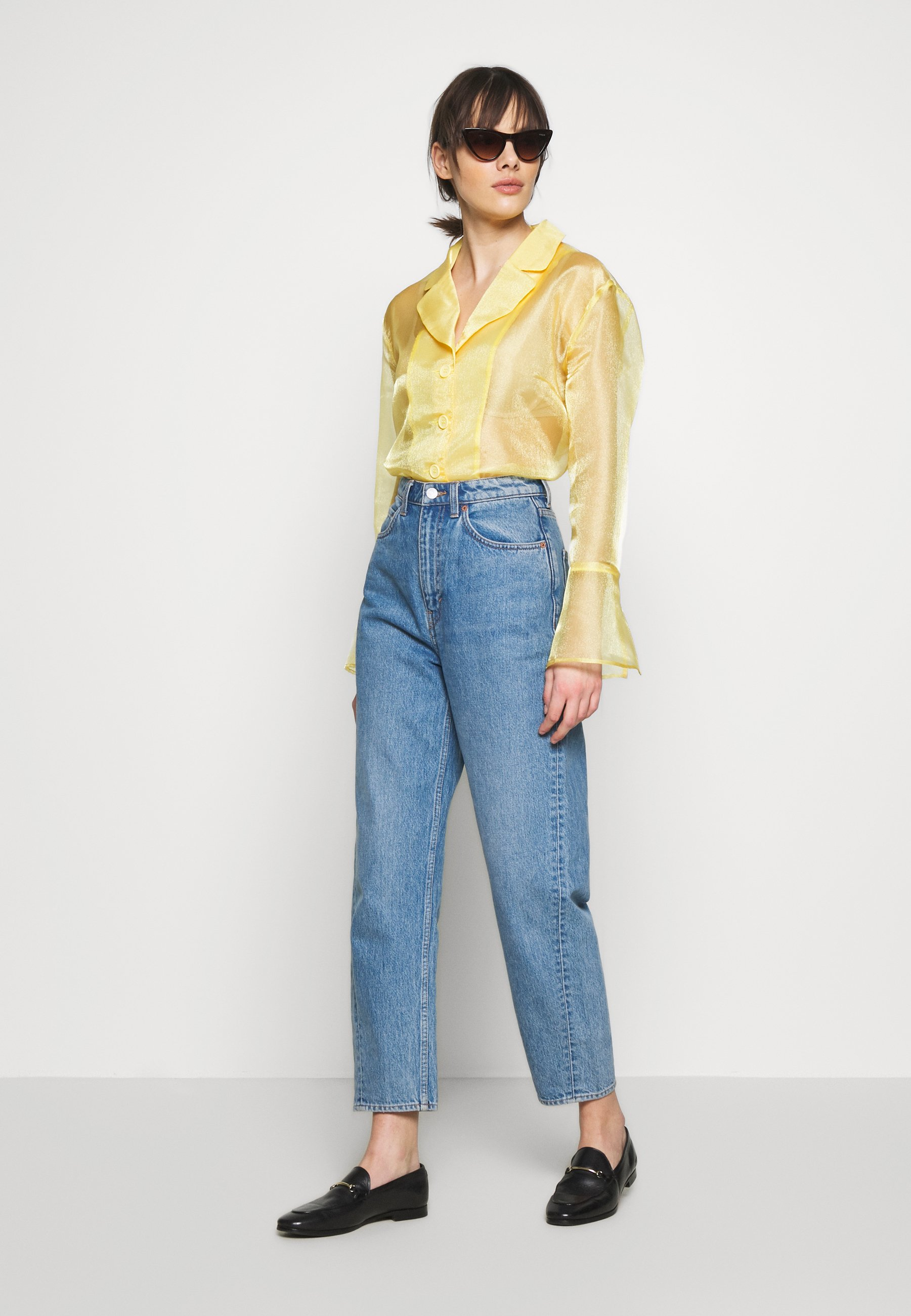 HOSBJERG JASMINE - Button-down blouse - yellow ARoww
