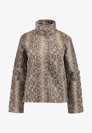 OLLIE JACKET - Leather jacket - brown