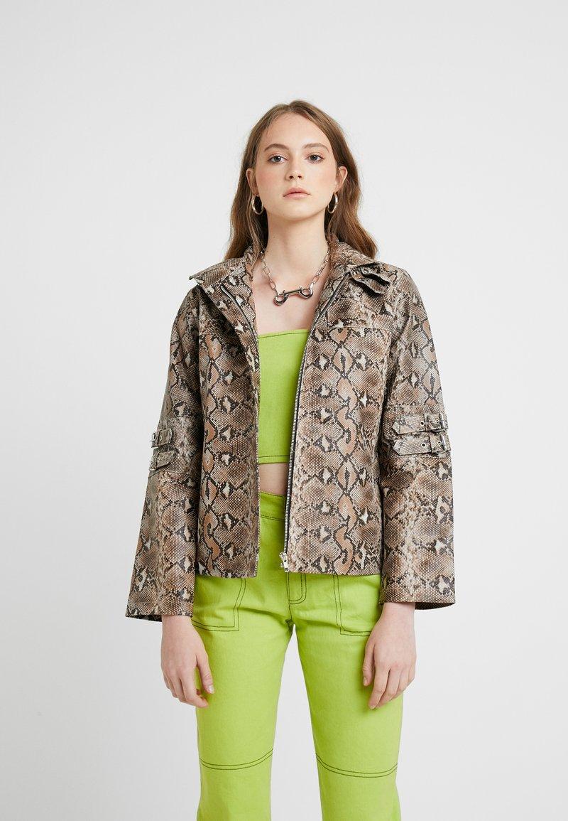 HOSBJERG - OLLIE JACKET - Leather jacket - brown