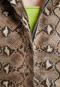 HOSBJERG - OLLIE JACKET - Leather jacket - brown - 6