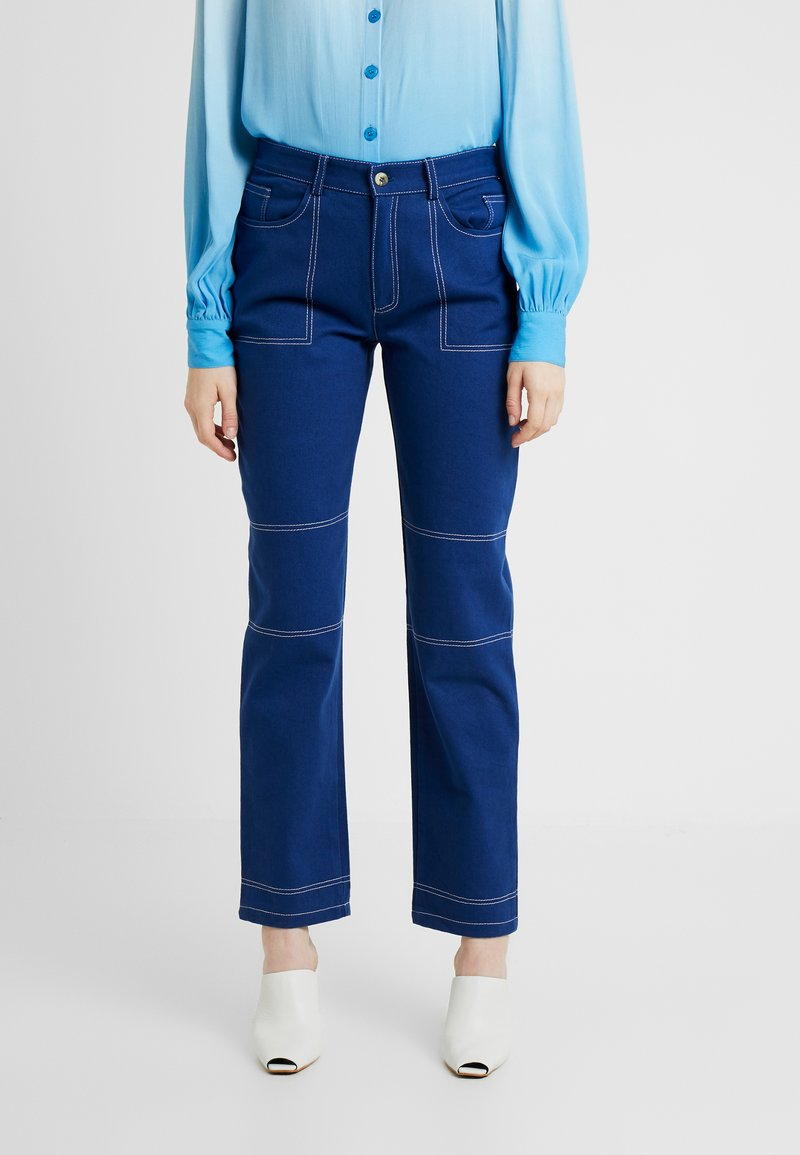 HOSBJERG - OLYMPIA JEANS - Jeans straight leg - navy