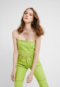 HOSBJERG - OLYMPIA JEANS - Straight leg jeans - lime green - 3