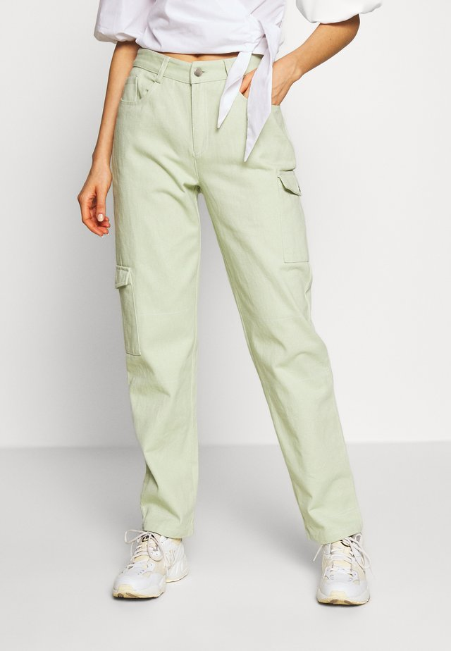 RUTH PANTS - Jeansy Straight Leg - mint green