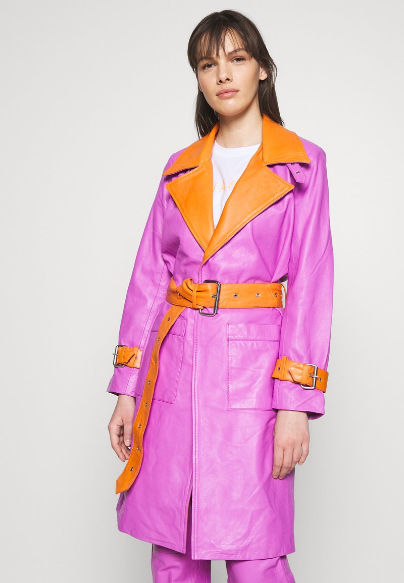 HOSBJERG - RUDY FRANCE COAT - Classic coat - purple/orange