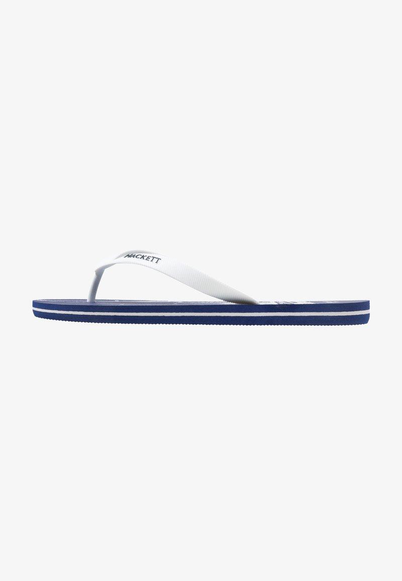 Hackett London - PRINT SAIL - Teenslippers - blue